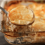 Spoonful of scalloped potatoes