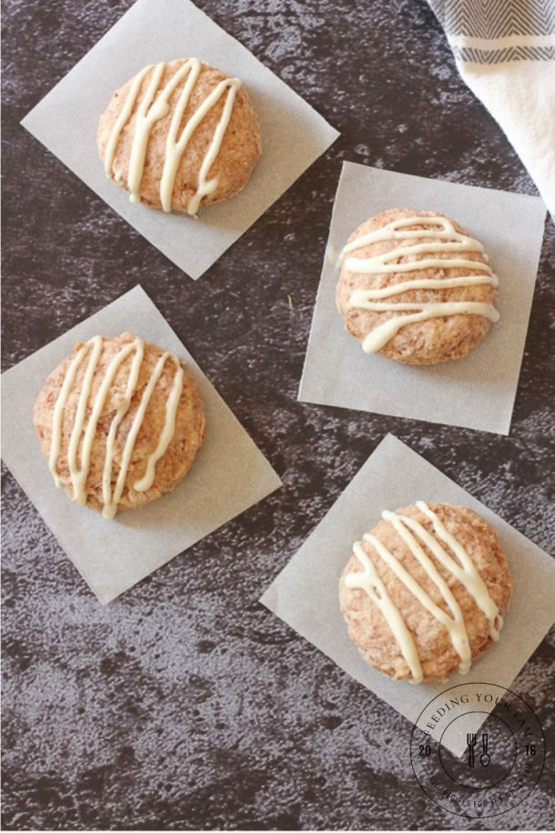 cinnamon biscuits on parchment paper