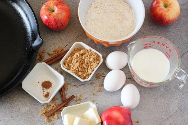 ingredients needed to make german apple pancakes