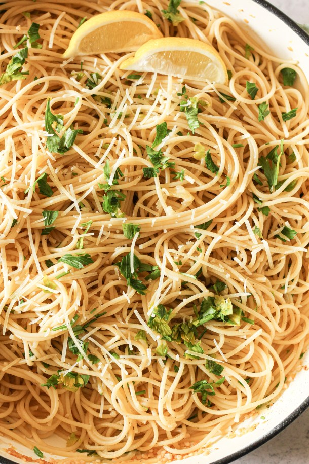 lemon garlic spaghetti