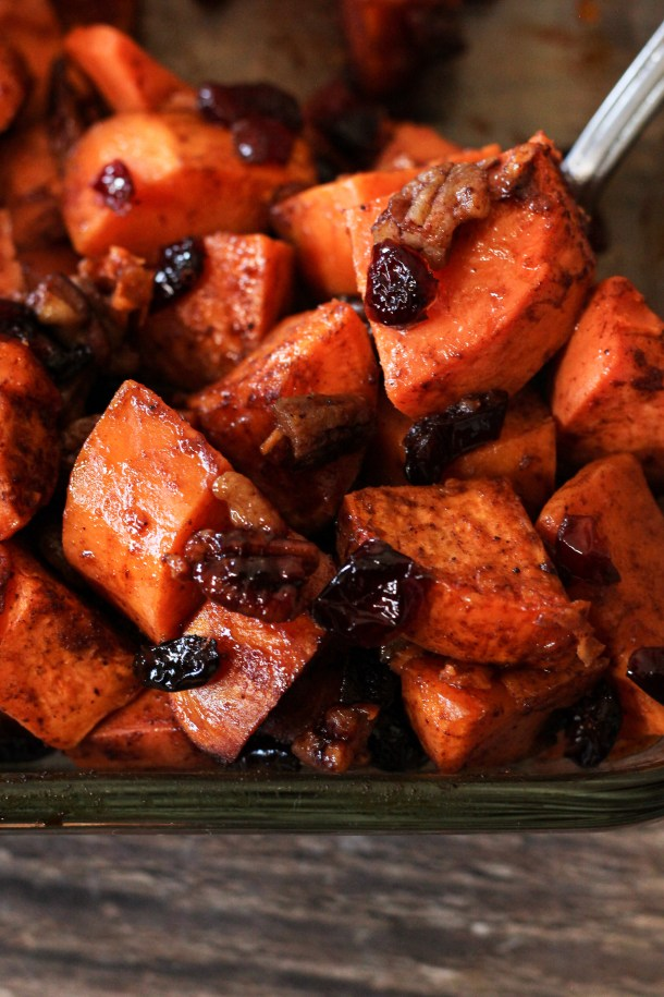 spoonful of roasted sweet potatoes