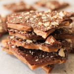 pile of english toffee