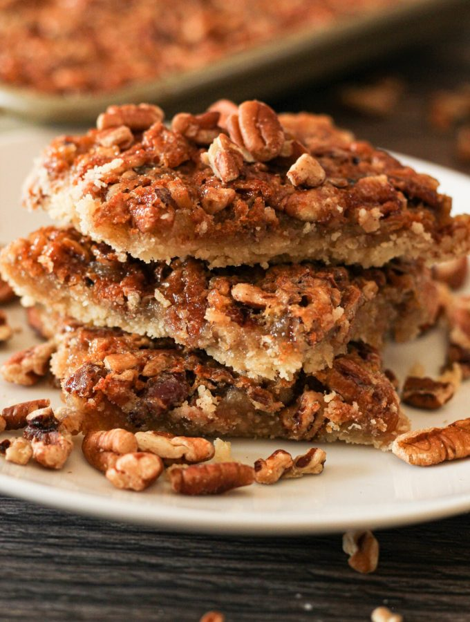 stacked pecan pie squares