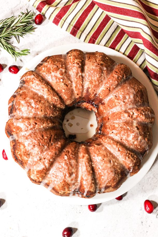cranberry almond bundt cake