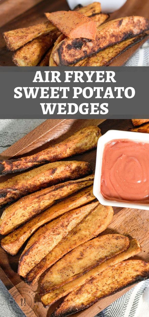 images of roasted sweet potato wedges
