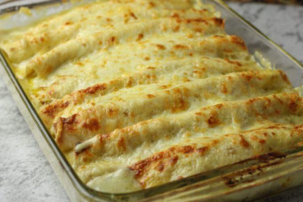 pan of enchiladas