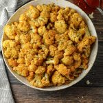 seasoned oven baked cauliflower