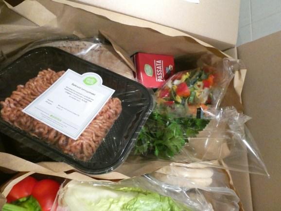 De zak met spullen voor de lahmacun