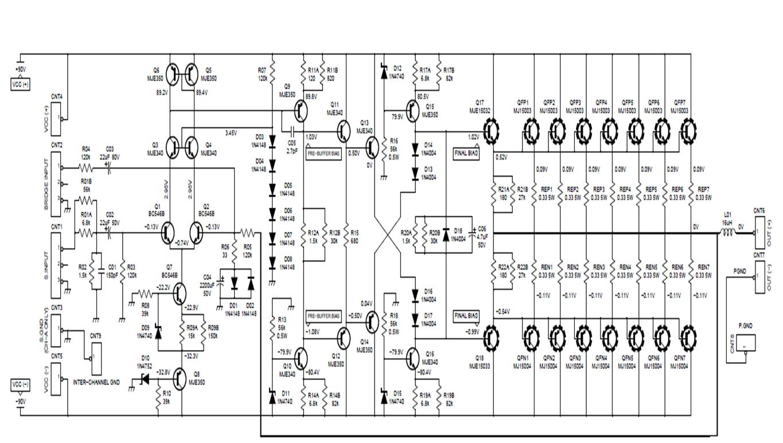 W Audio Power Amplifier Circuit Feed Me My Need