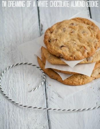 White Chocolate Almond Cookies Rezept