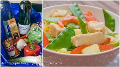 Putengulasch mit Kartoffeln, Curry und frischem Gemüse-4