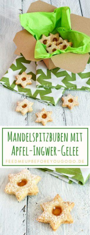Mandelspitzbuben mit Apfel-Ingwer-Gelee Rezept