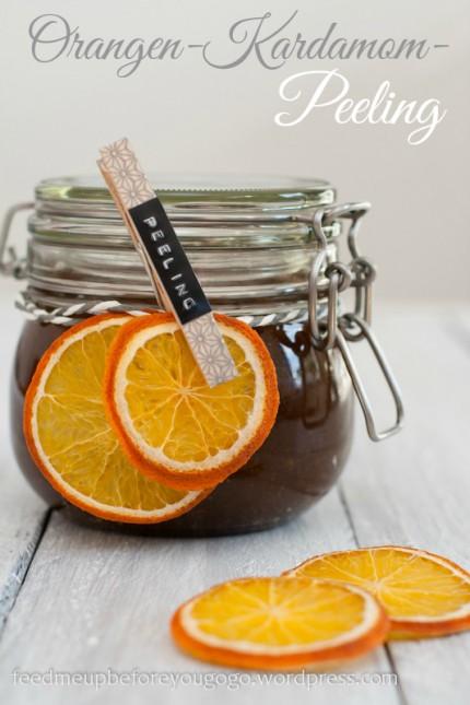 Last-minute-Weihnachtsgeschenk aus der Küche: Orangen-Kardamom-Peeling Feed me up before you go-go