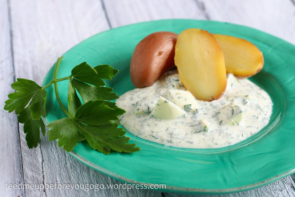 Ein Klecks Hessen auf dem Teller: Grüne Soße mit Pellkartoffeln