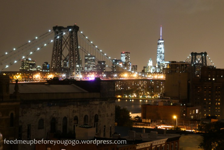 Skyline New York bei Nacht Williamsburg Bridge New York kulinarische Tipps Brooklyn