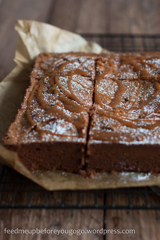 Salted Caramel Brownies nach Jamie Oliver