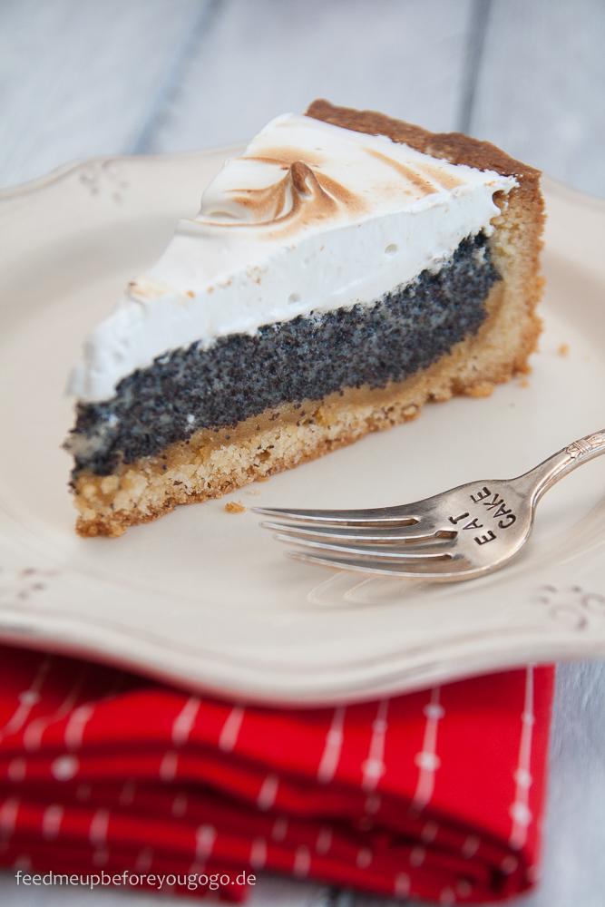 Mohn-Marzipan-Kuchen mit Baiser Rezept Feed me up before you go-go
