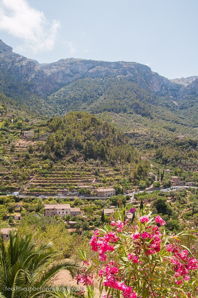 Mallorca Food & Travel Guide - die schönsten Bergdörfer Deià Ausblick Feed me up before you go-go