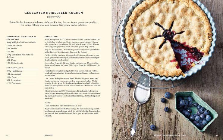 Blueberry Pie Innenseite aus USA vegetarisch © Ulrike Holsten/Brandstätter Verlag