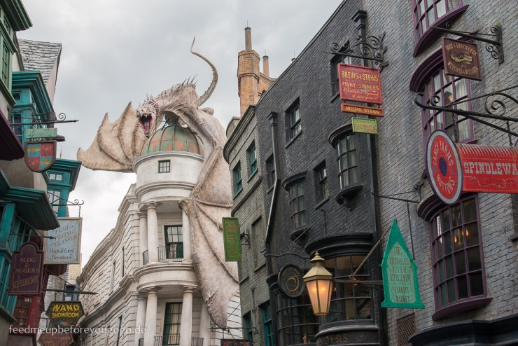Drache Diagon Alley Harry Potter Universal Studios Orlando