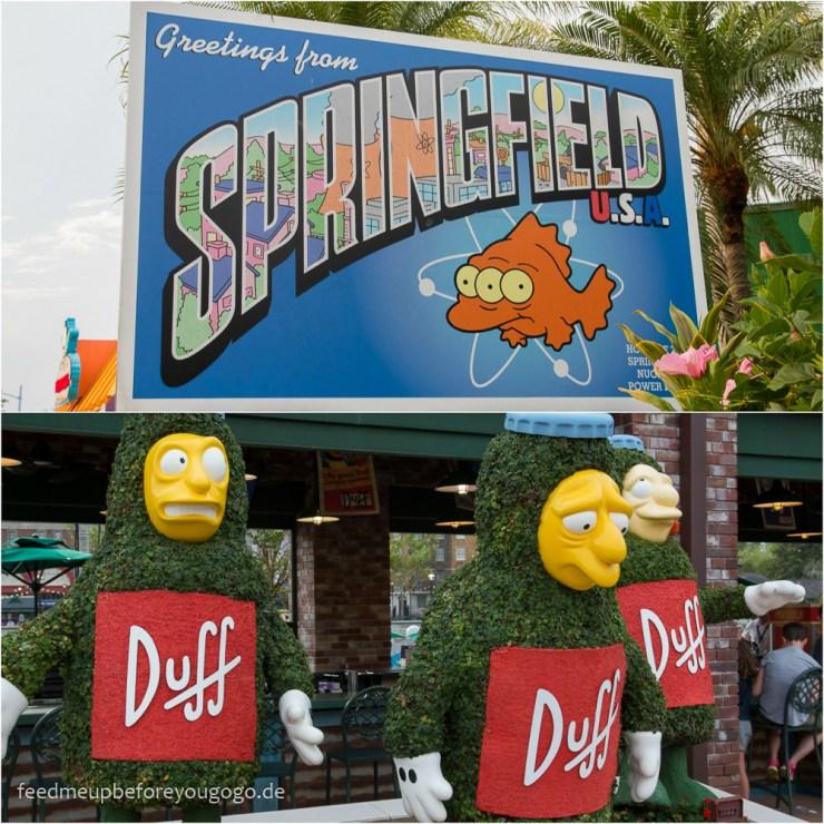Springfield Duff Bier Simpsons Universal Studios Orlando