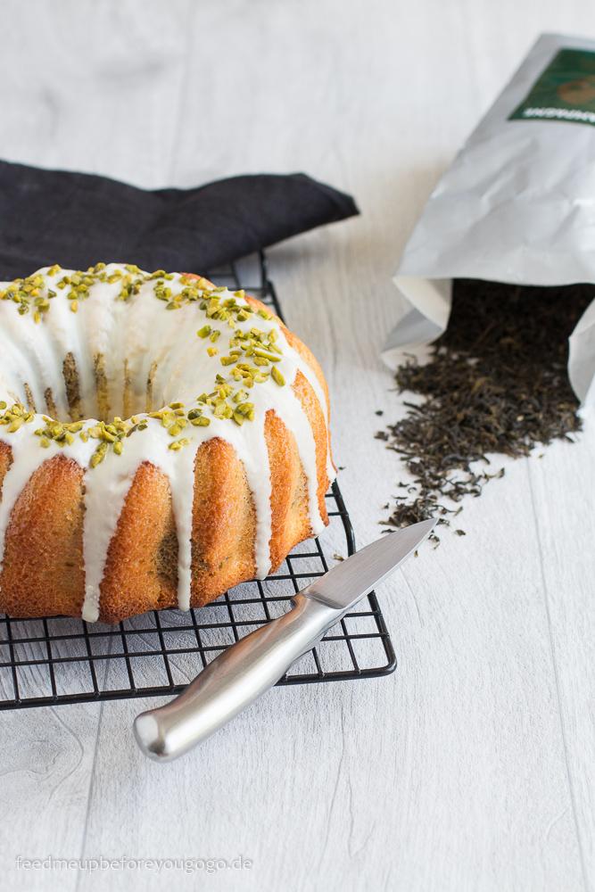 Marmorkuchen mit weißer Schokolade, grünem Darjeeling und Pistazien Rezept Feed me up before you go-go