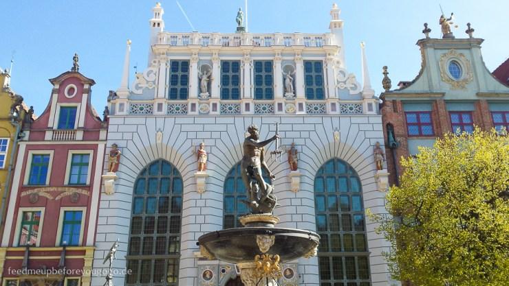 Neptunbrunnen Danzig Gdansk Polen Altstadt kulinarische Tipps