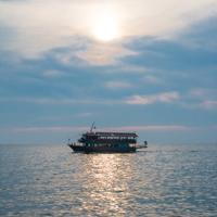 Schiff im Hafen von Thessaloniki Griechenland