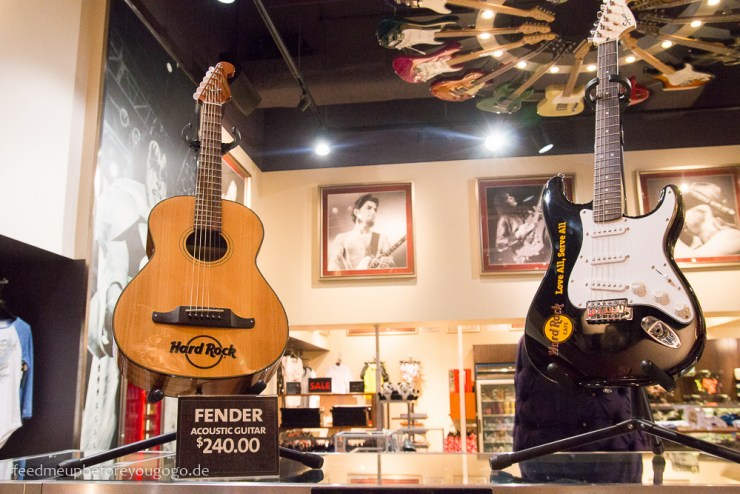 Hard Rock Hotel Orlando Florida Shop Gitarren Fender
