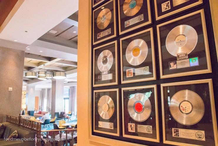 Hard Rock Hotel Orlando Florida Lobby goldene Schallplatten