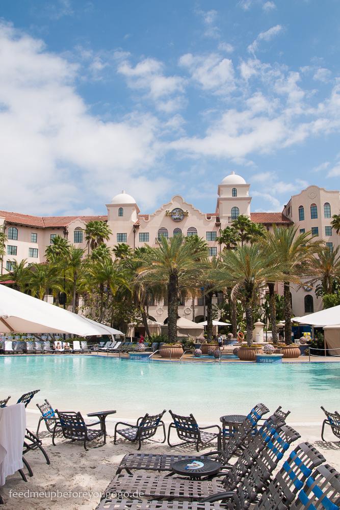 Hard Rock Hotel Orlando Florida Pool mit Palmen
