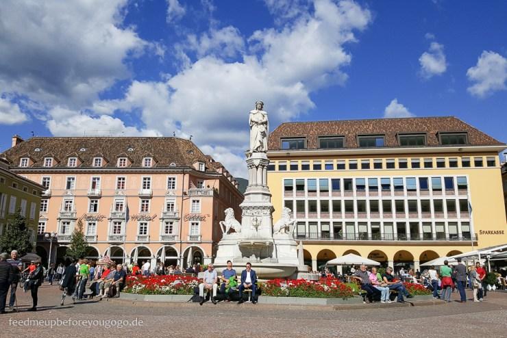 Bozen kulinarisch Marktplatz Südtirol Italien