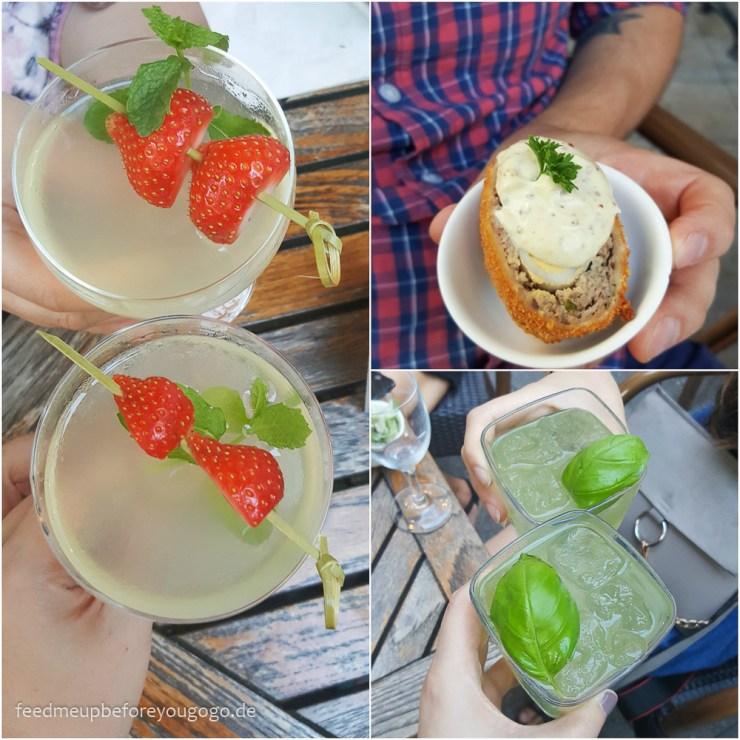 Sipsmith Gin Event München Gimlet mit Erdbeeren und Basil Smash