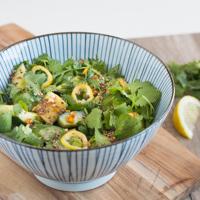 Asiatischer Gurkensalat mit Ingwer, Sesam & Koriander