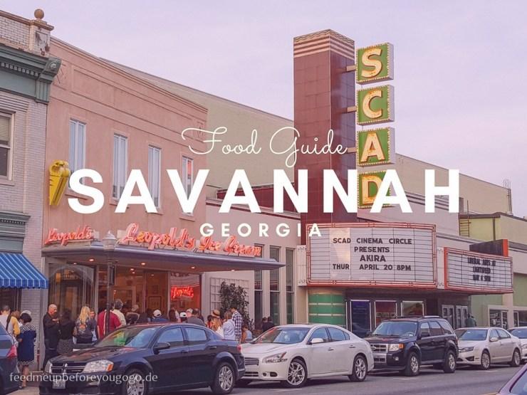 Savannah Georgia kulinarische Tipps Südstaaten