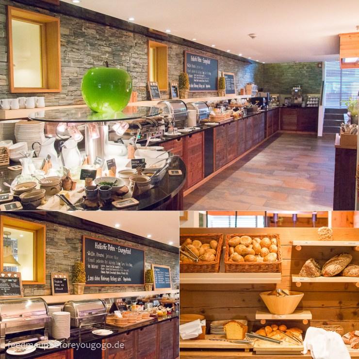 Frühstücksbüfett Hubertus Alpin Lodge & Spa Balderschwang
