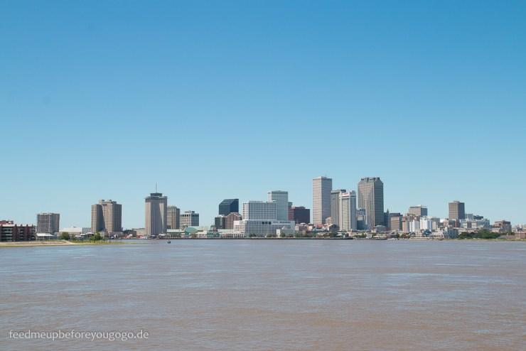 3 Tage in New Orleans Blick auf die Stadt vom Mississippi
