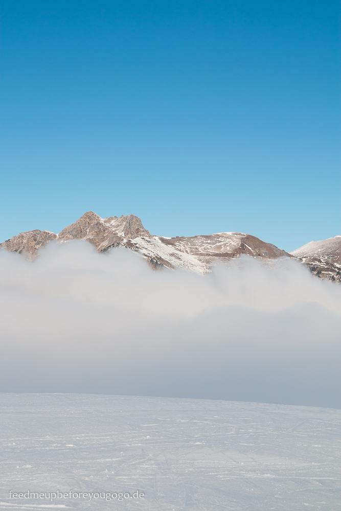 Großarl Kreuzkogel Berg Nebel Schnee Salzburger Land