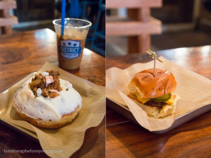 New Orleans District Donuts Sliders Brew Carrot Cake Donut Cheeseburger kulinarische Tipps Food Guide