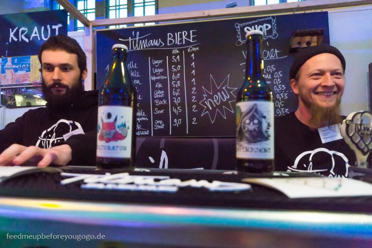 Tilmans Biere Hopfenbohne auf der Braukunst Live in München
