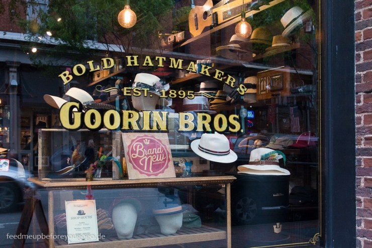 Goorin Bros Huete Broadway Nashville Tennesse Reisetipps Feed me up before you go-go