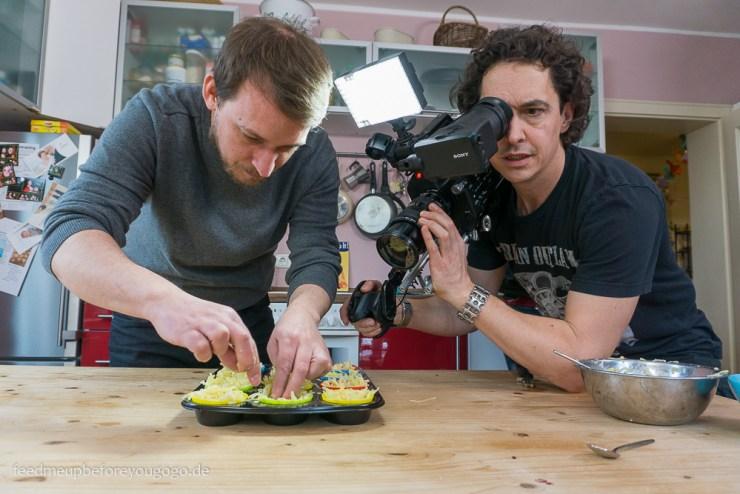 Dreh für ZDF Drehscheibe Küchenträume Steffen Jost und Kameramann