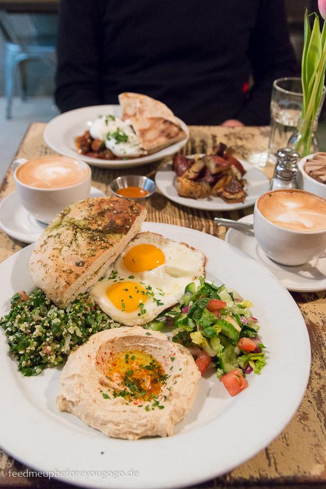 Middle Eastern Eggs Frühstück Cafe Mogador Williamsburg Brooklyn New York