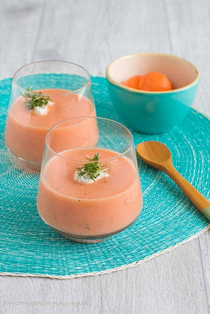 Melonensuppe mit Estragon und Kresse Rezept
