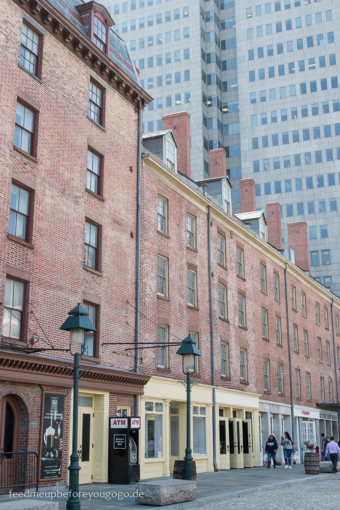 Straße im Seaport District Manhattan New York