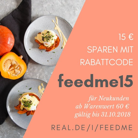Rabattcode 15 Euro für den real Lebensmittelshop