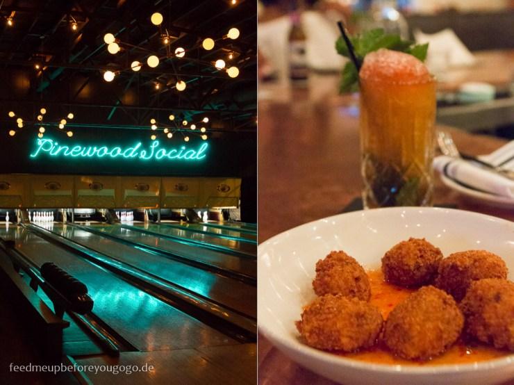 Nashville Pinewood Social Bowling Jalapeño Fritters kulinarisch durch Nashville
