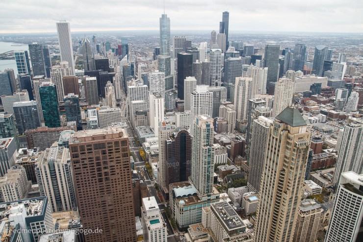Chicago von oben Aussichtsplattform 360 Chicago Downtown