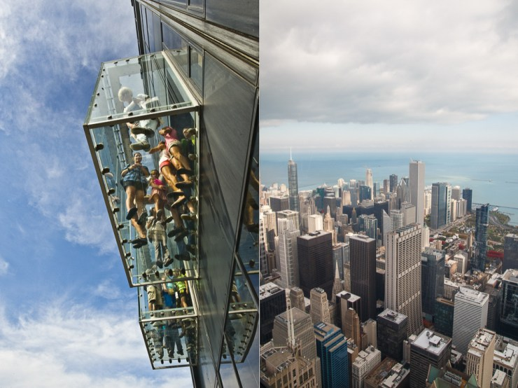 The Ledge Chicago von oben Skydeck Aussichtsplattform Downtown