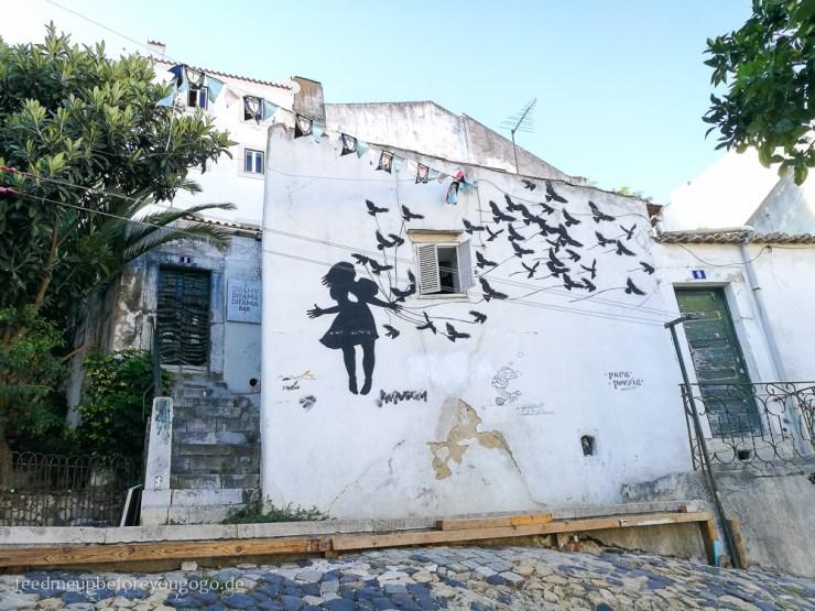 Street-Art in Alfama Lissabon kulinarische Tipps